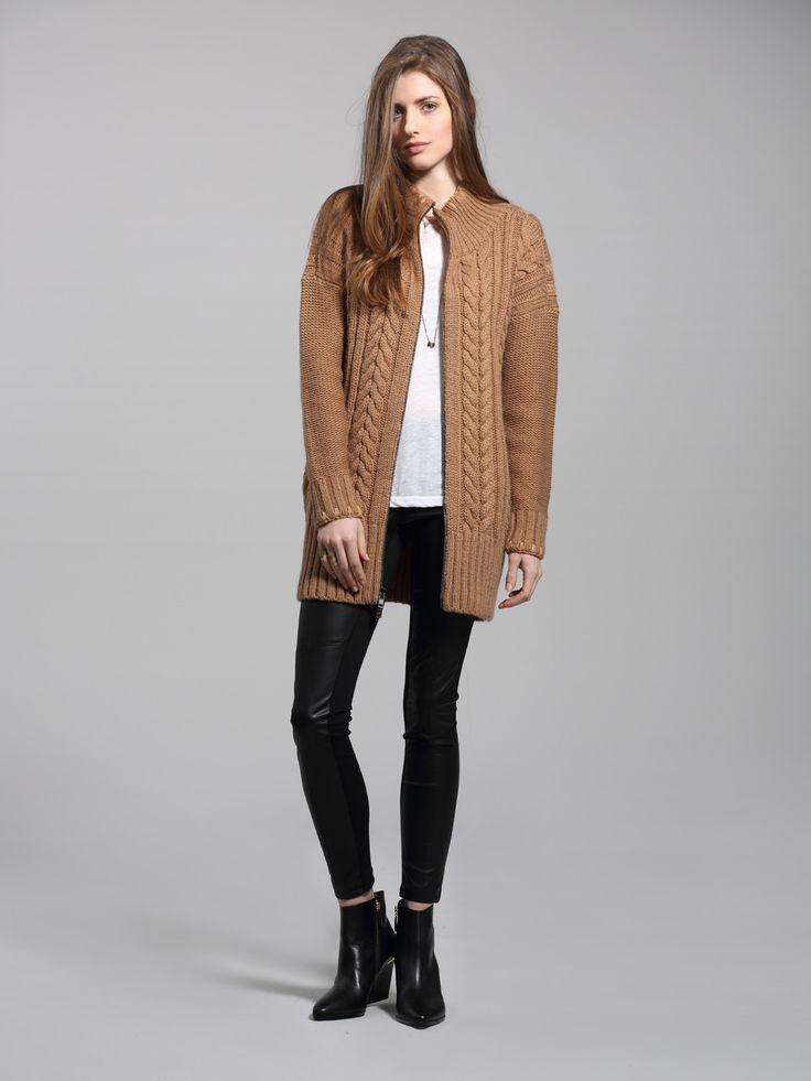 Left on Houston Collins sweater coat