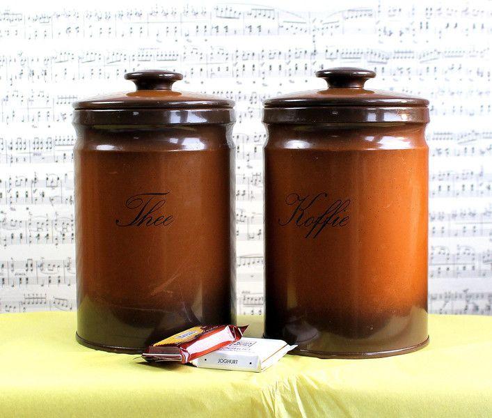 Kaffee- und Teedosen im 70er Jahre Outfit von FrlBetty  auf DaWanda.com