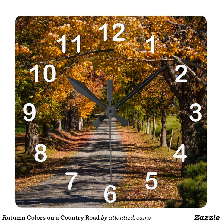 Autumn Colours on a Country Road Wallclocks