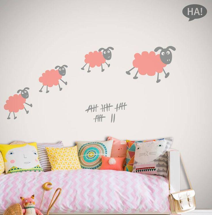 Αυτοκόλλητα τοίχου: http://www.houseart.gr/details.php?id=339&pid=13401  #houseart #sheep #kids #sticker #childrens #kids_room #little