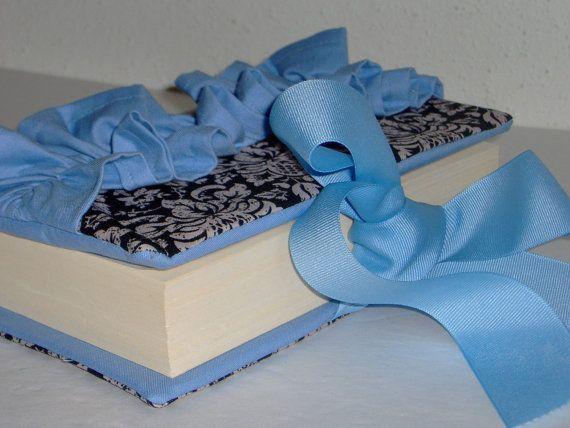 Beautiful Black Damask/Baby Blue Bible Cover by Pleasingtodeye