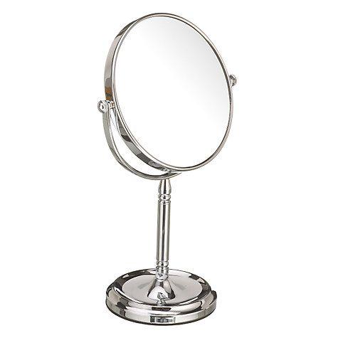 Buy John Lewis Chrome Stand Mirror, 15cm Online at johnlewis.com