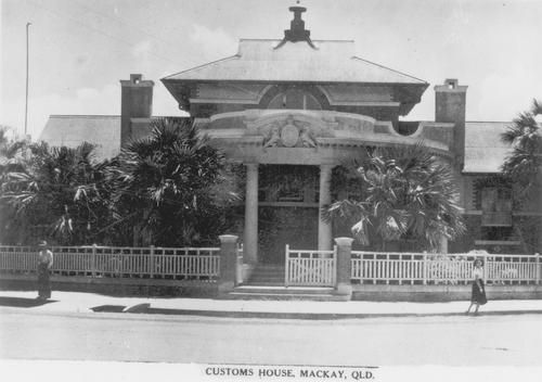 The Mackay Customs House has been carrying out duties since 1863 and was officially declared complete on April 29, 1902. The design of the building is attributed to John Smith Murdoch, District Architect with the Queensland Public Works Department. The building bears the Queensland State Coat of Arms and encompasses varied roof forms and gable treatments, the use of stucco panels and the classical semi-circular Tholos entrance. It was added to the Queensland Heritage Register on Feb 7, 2005