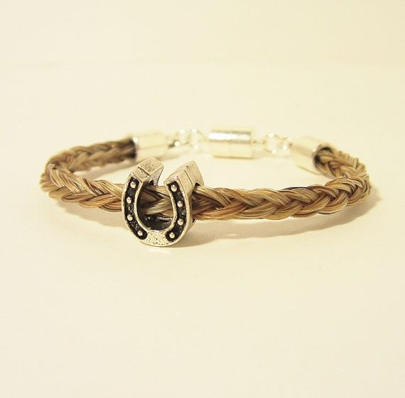 Sorrell Horse Hair Bracelet with Pewter Horseshoe by RescueTails, $30.00
