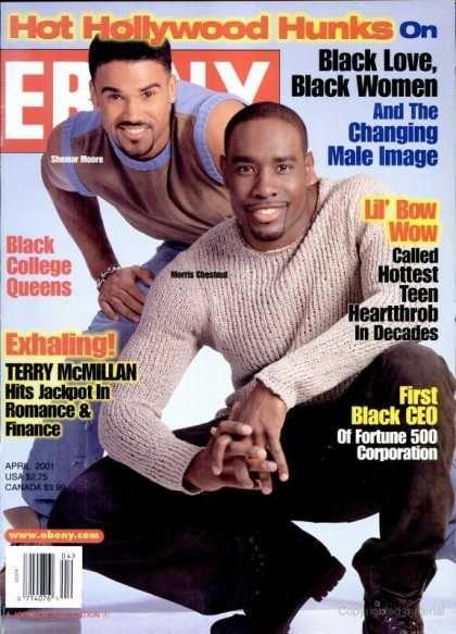 Ebony Ebony April 2001 Shemar Moore And Morris