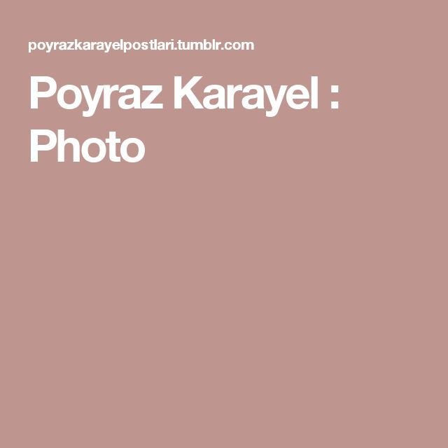 Poyraz Karayel : Photo