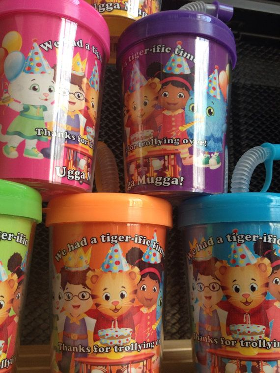 Daniel Tiger Neighborhood Personalized Birthday Party Favor Cups Set of 6 Copy