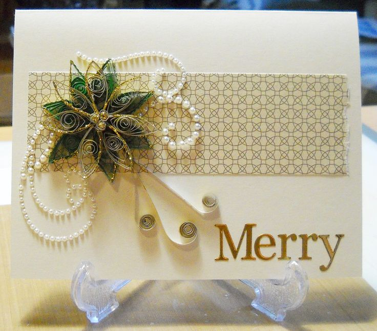 Quilled Christmas Card - Scrapbook.com