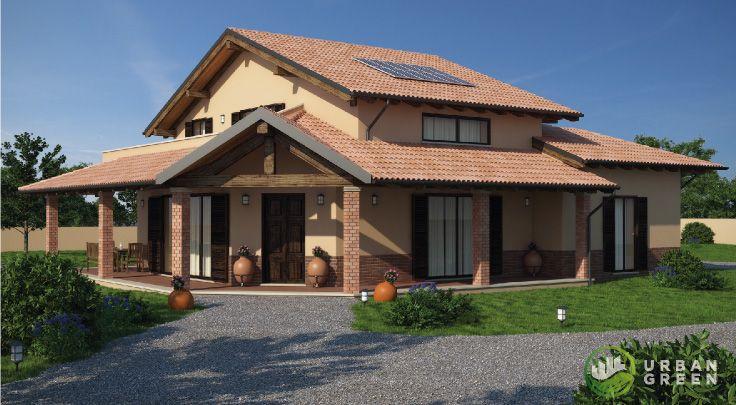 Progetto Casa in Legno Bipiano URB08 da 260 metri quadrati. Progettazione casa in legno personalizzata a seconda delle esigenze abitative