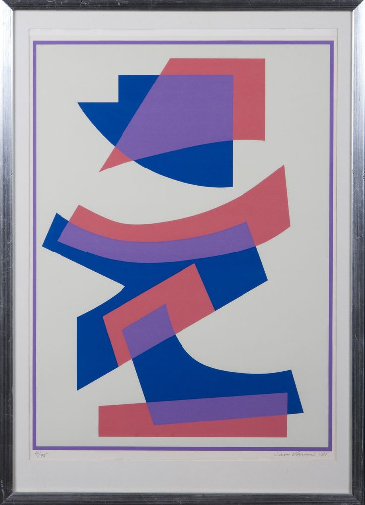 Sam Vanni: Sommitelma, 1981, serigrafia, 60x45 cm, edition 4/75 - Hagelstam A130