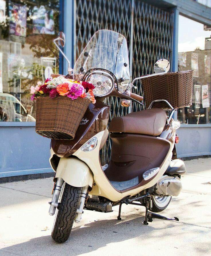 #Vespa with flower basket