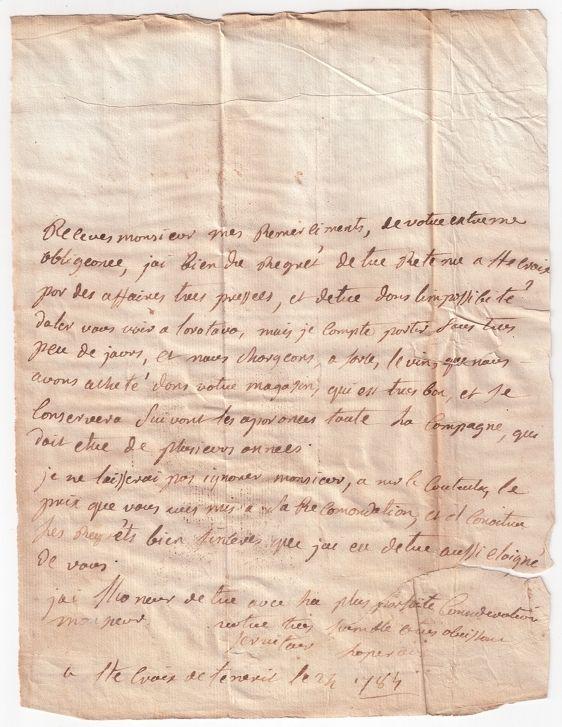 perouse+carta+01.Carta original de La Pérouse a Tomás Cólogan Valois (I)