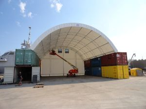 Natural Light Fabric Building - Warehouse Fabric Buildings on Sea Containers