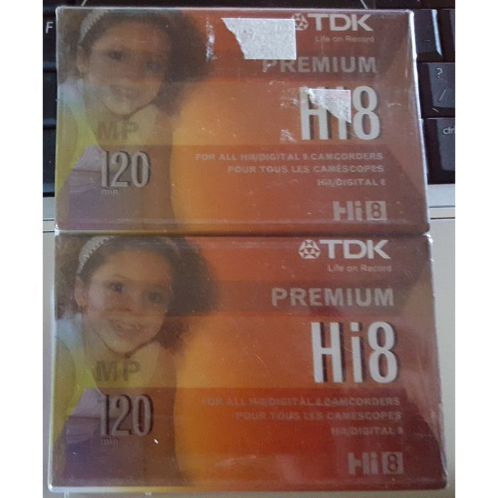 TDK Hi 8 P6-120 HP P6-120HPFXL2TGA Videocassette Camcorder Tape 2 pack New Listing in the Memory, Tapes & Cassettes,Camcorder Accessories,Photography & Optical Category on eBid Canada CAN$20.00 + S&H