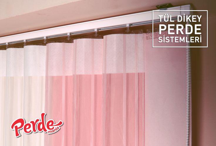 Pudra Pembe Tül Dikey Perde  7 ayrı renkten oluşan renk kartelasından istediğiniz kumaşları seçerek kendi renk kombinasyonunuzu da oluşturabilirsiniz. #tül #dikey #perde