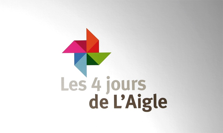 Logo design for exhibition fair : 4 jours de lAigle. The logo was featured in the LogoLounch Trends Report 2011