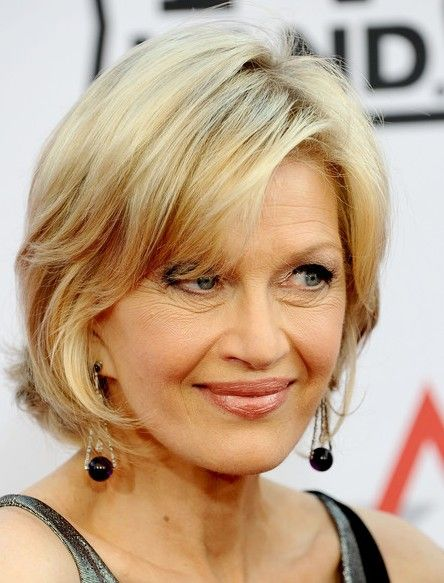 Diane Sawyer Chic Hairstyle with Bangs | Hairstyles Weekly