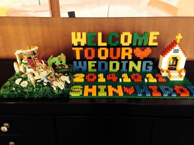 意外と人気♡「レゴ®ブロック」で作ったウエルカムボードが楽しい♡ -page4   Marry Jocee