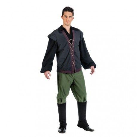 ¿Tienes una feria medieval? Este disfraz de tabernero para hombre te encantará por su elegancia y calidad de tejidos.  Este producto está frabricado 100% en España.  Incluye: Camisa con chaleco, pantalón y cubrebotas.