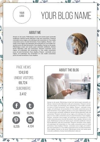 How to Design a Blogger's Media Kit (pus free template)