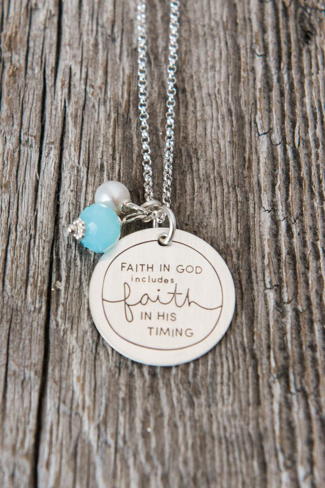Faith In God INCLUDES Faith In His Timing Necklace // Adoption lesson I've learned. @charmyoself