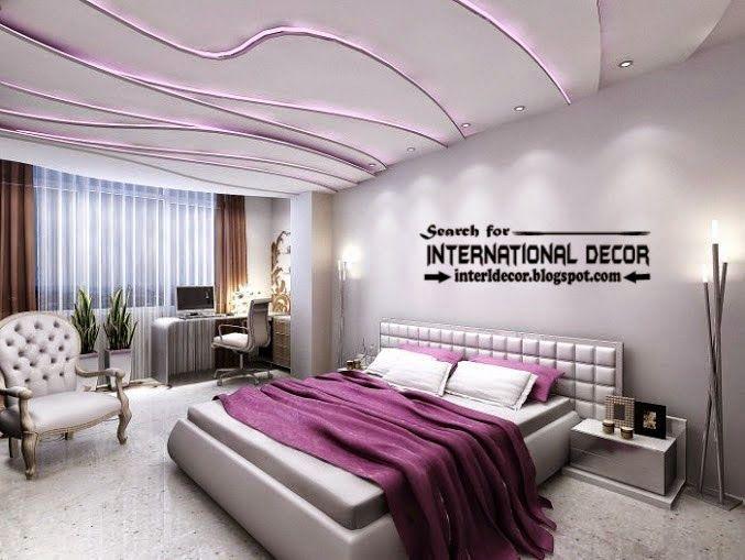 modern suspended ceiling lights for bedroom ceiling LED lighting ideas