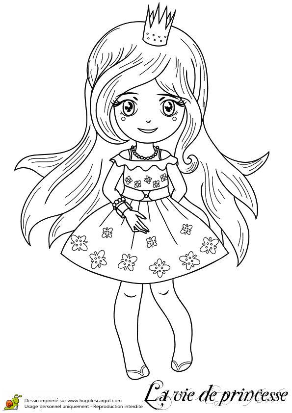 Image dessins des filles 595 842 princesse - Coloriage de barbie princesse ...