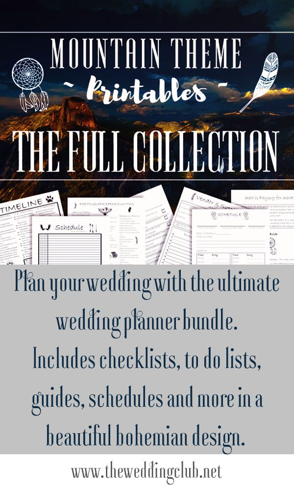 The ultimate printable wedding planner bundle, with more than 110 pages of wedding checklists, wedding to do lists, wedding planning guides, wedding schedules, and so much more. This printable is perfect for the bride who is planning her own wedding or a wedding planner who just started her career. Plan your own wedding with this massive collection of great printables. Well thought out and specially designed by The Wedding Club Team. Be sure to favorite our Etsy shop to stay updated.