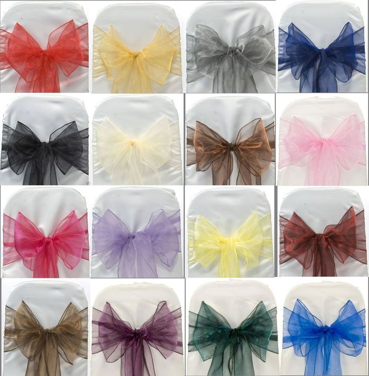 ORGANZA SASHES CHAIR COVER BOW SASH WIDER SASHES FOR A FULLER BOW UK SELLER