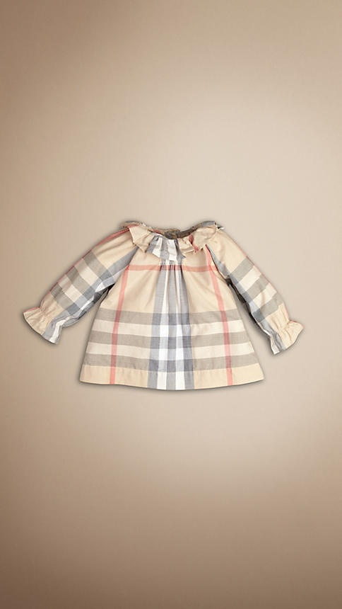 CHECK FRILL COLLAR TOP | BurberryCollars Tops, Frill Collars, Girls Generation, Baby Girls 3, Check Frill, Girls 0 24, Girls Clothing