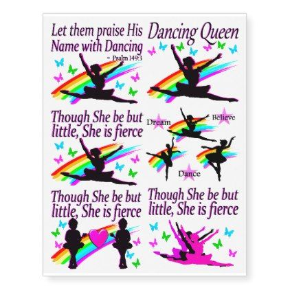 PRETTY DANCING AND BALLET TATTOOS - modern gifts cyo gift ideas personalize