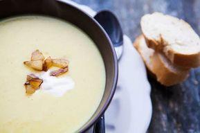 Verrückt! – Apfel-Curry-Suppe #Apfel #eifrei #gesund #glutenfrei #Knoblauch #kochen #Rezept #schnell und einfach #vegetarisch #Vorspeise #Zwiebel