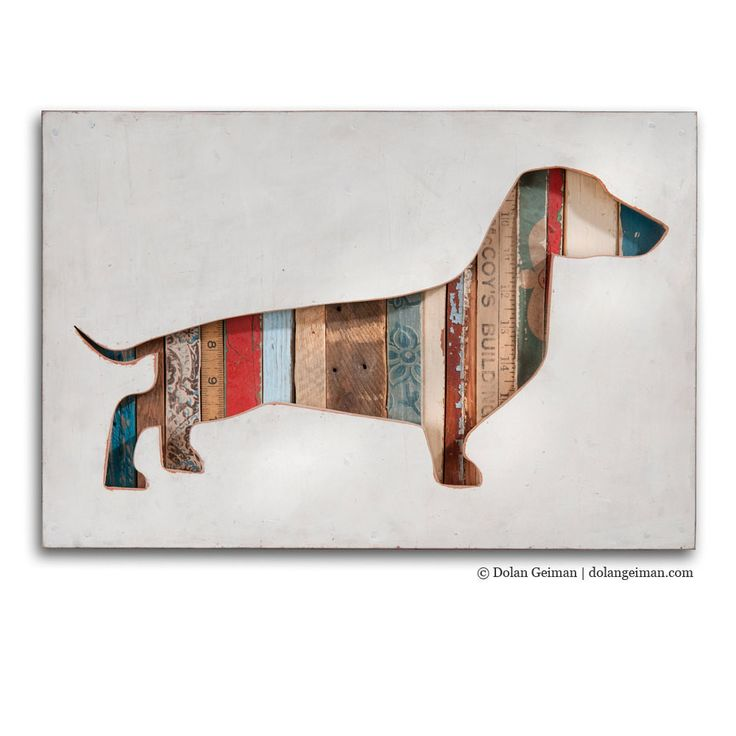 Dachshund Silhouette Custom Dog Portrait