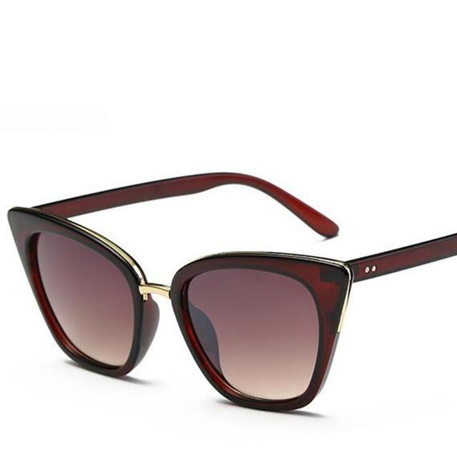 Luxury Cat Eye Sunglasses Women Brand Designer Retro Vintage Sun Glasses Women Ladies Female Sunglass Mirror Lunettes de soleil