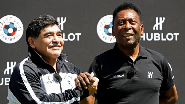 Maradona et Pelé#Légende#Football#AmeriqueDuSud#Argentine#Brésil#Promotion#Hublot#9ine @Maradona