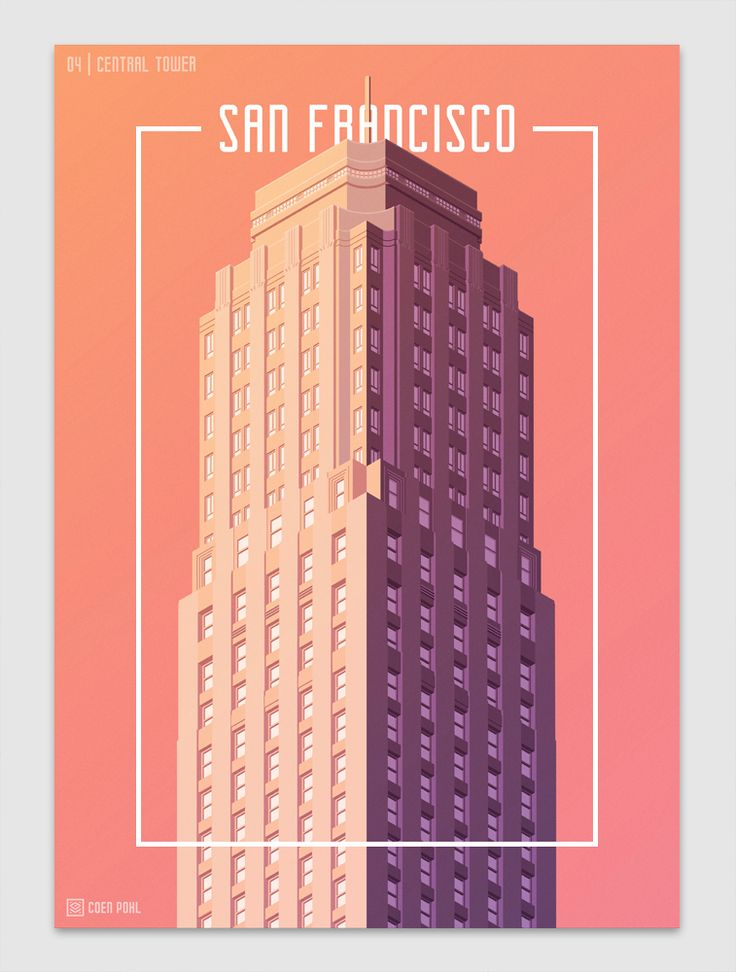 #Architecture Graphic and #Design Illustration Towers of San Francisco by Coen Pohl