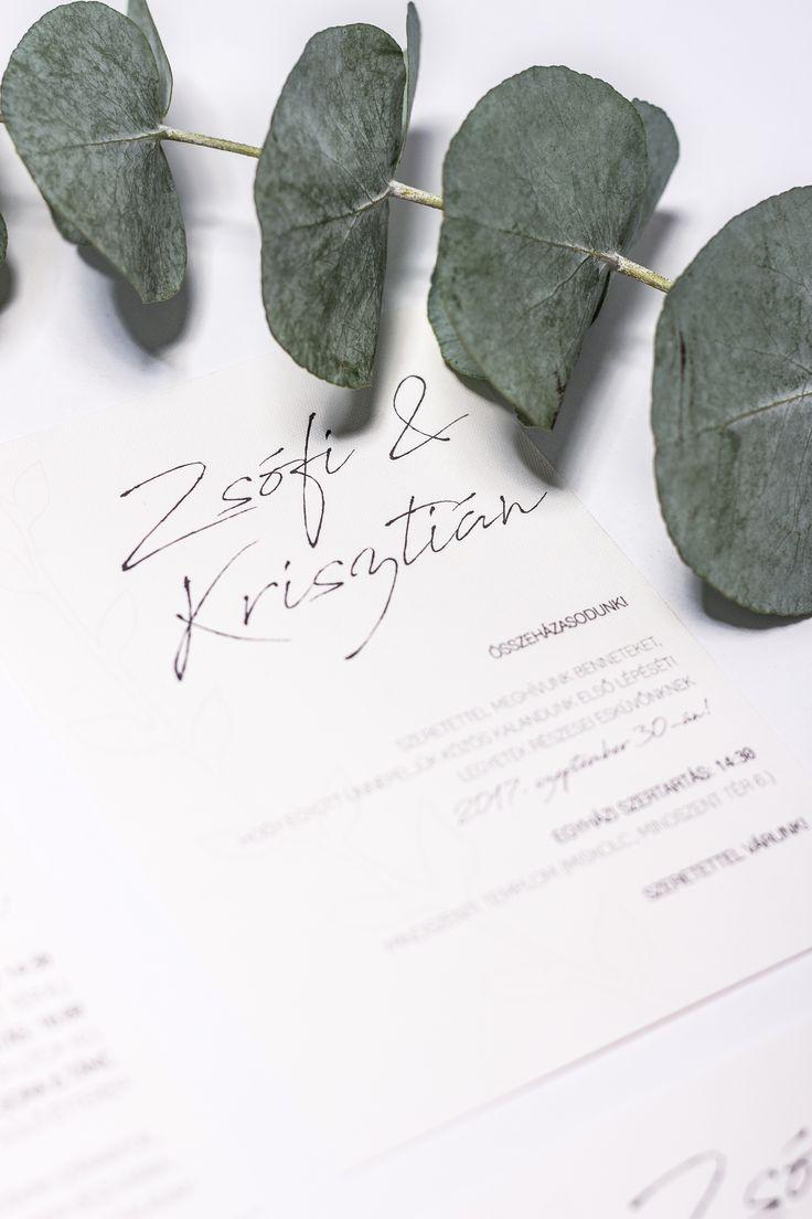 Minimalist wedding invitation card design created by Zboznovits visuals.