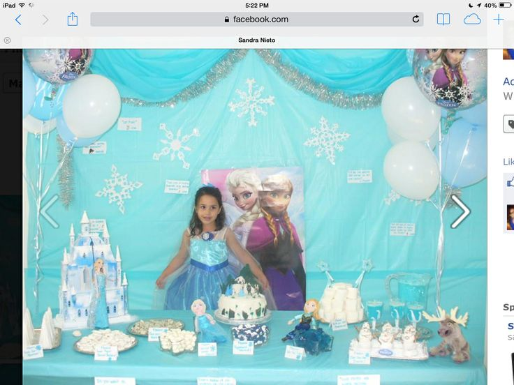 Frozen Movie Birthday Party Decoration I Enjoyed Very Much Doing This Party