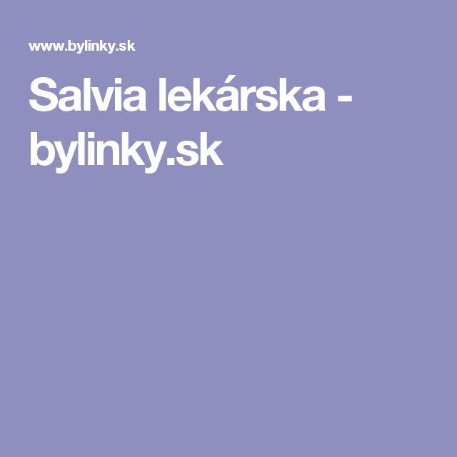 Salvia lekárska - bylinky.sk