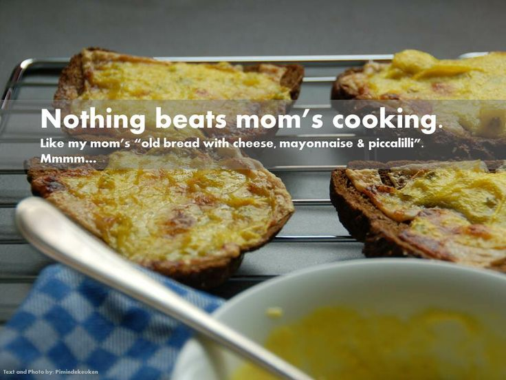 Nothing beats mom's cooking