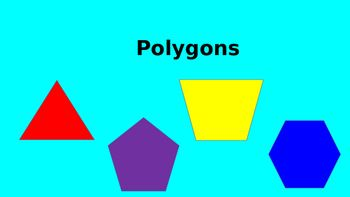 The following is an introductory lesson on Polygons. The PowerPoint begins by introducing essential vocabulary terms, parallel sides, angles, vertices, congruent sides, regular polygons, non-regular polygons. The PowerPoint then goes on to ask questions about classifying polygons bases on attributes.