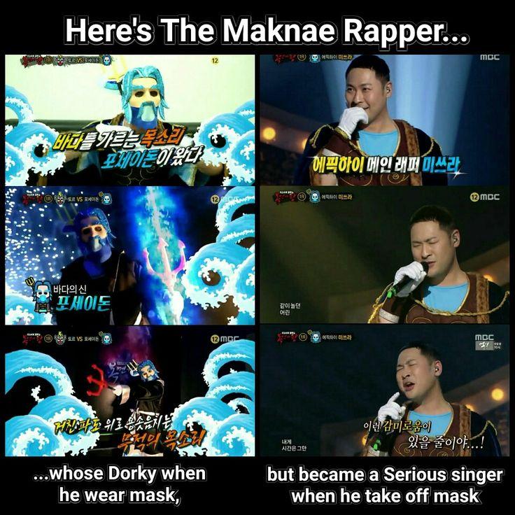 That's our powerful maknae rapper & singer 👏👏👏 #mithra #epikhigh #mbc #kingofmaskedsinger