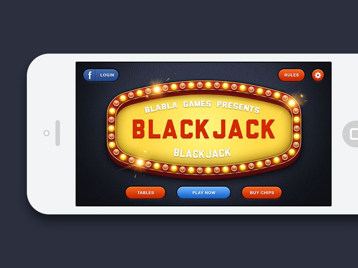 Blackjack iOS Game - Main Menu by Umar Irshad