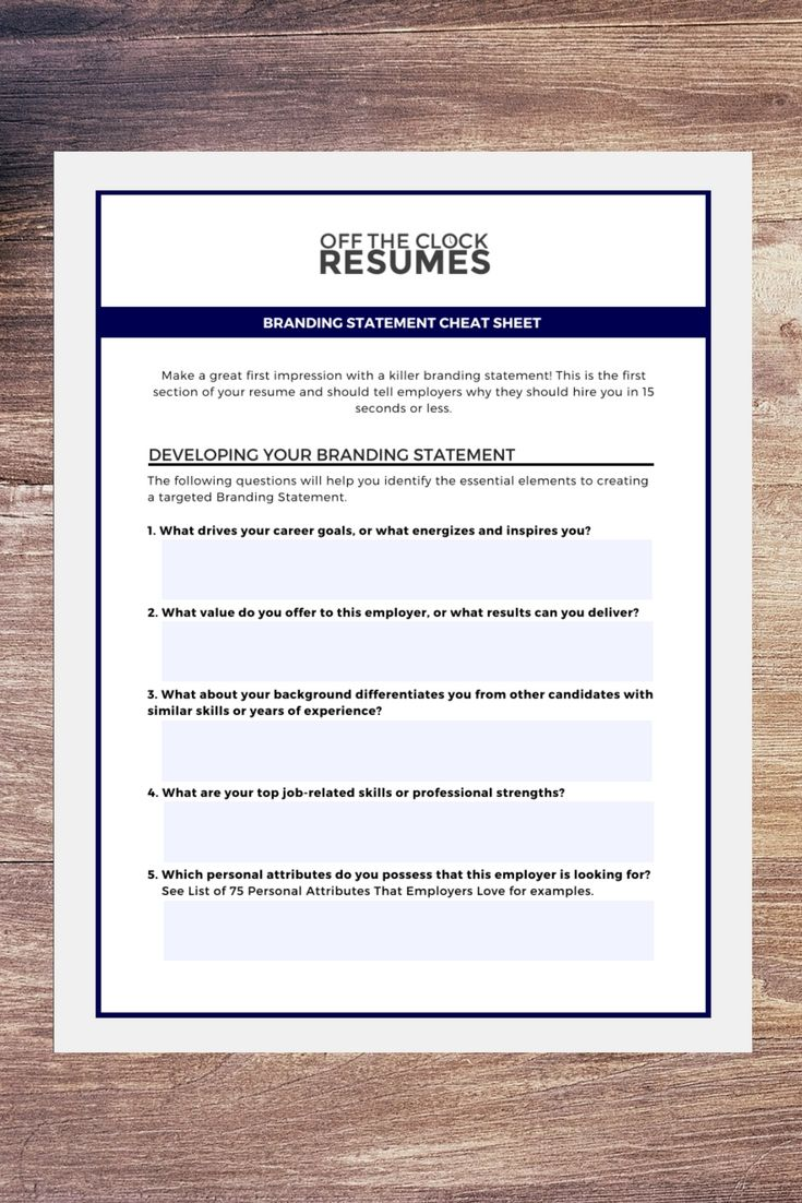 Resume Branding Statement Examples Your Resume Needs A Jobwinning Branding Statement That Showcases .
