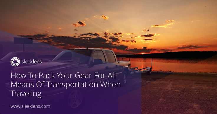 Planning some nice holidays or a job-related trip? Then don't miss these tips on how to safety pack your gear for all means of transportation.