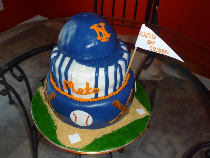 Ny Mets Cake Cakes By Me The Cake Fairie Pinterest