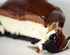 Cheesecake com Ganache de Chocolate