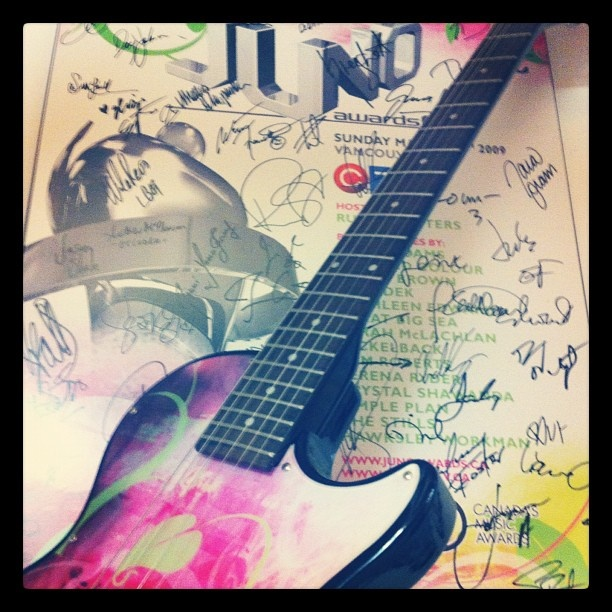 Our cool guitar and poster from 2009!