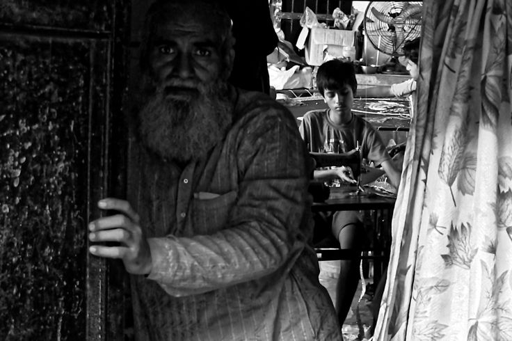 Master and his apprentice in Kathmandu, Nepal. #apprentice #black and white #children #job #kathmandu #master #nepal #street photography #work #working