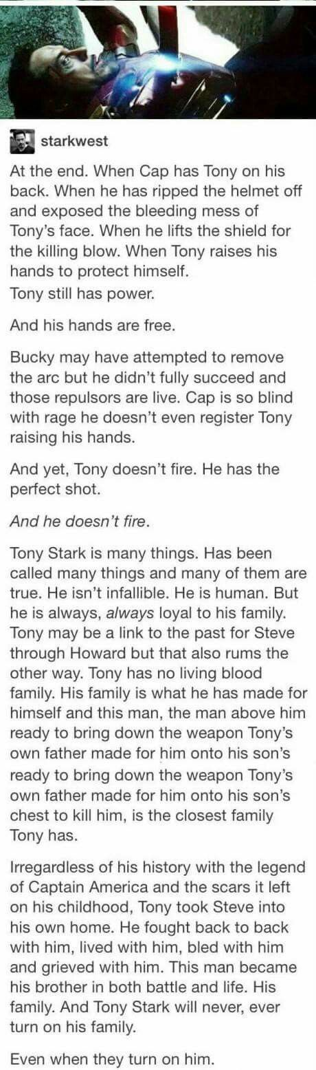 ~There's a lot of posts referencing the Captain, but I think there should be a few more on Tony and his experience during Civil War, so, here's one I found. I hope you read it through.~